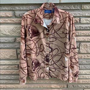 Natural Reflections pearl button snap horse shirt